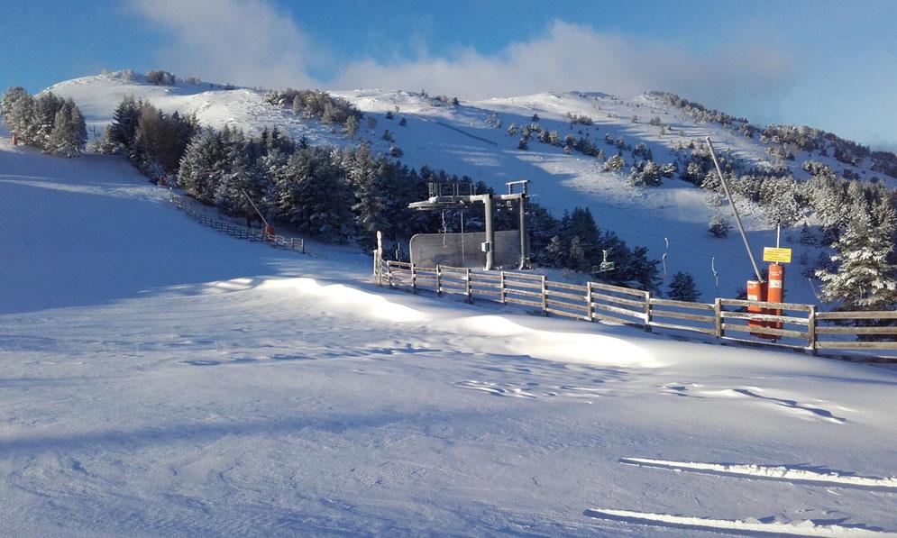 Station de ski de Camurac - première neige novemembre 2017