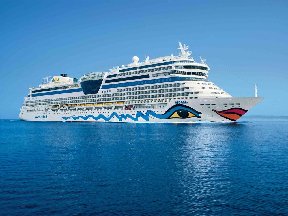AIDA Cruises AIDAblu Seitenansicht