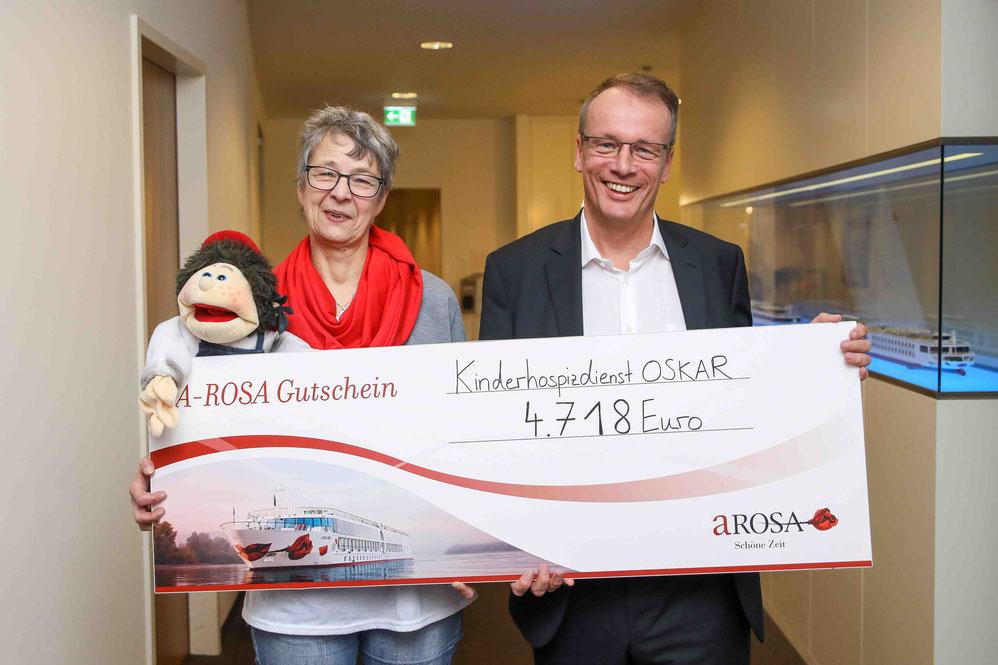 A-ROSA Spende Kinderhospidienst OSKAR