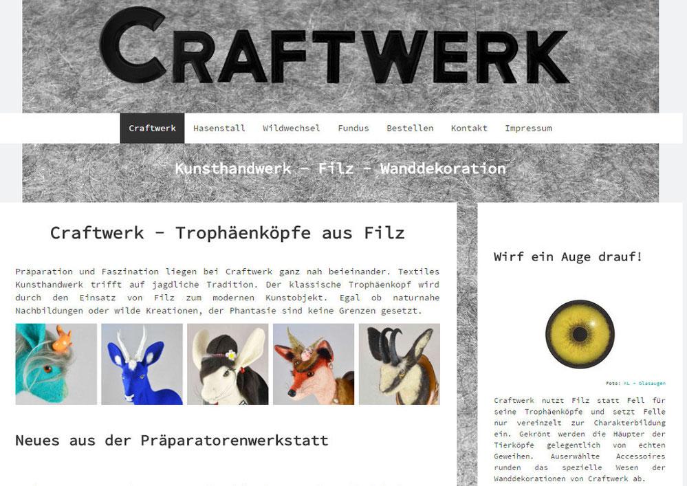 Startseite von Craftwerk-Art - Trophäenköpfe aus Filz
