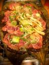 イノシシ朴葉味噌
