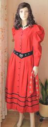 Landhauskleid rot-schwarz