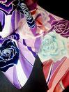 シルクストール・薔薇の花