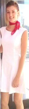 Uniforme de azafata vestido blanco A10 Azafatas