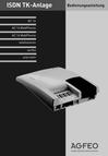 Titelbild Bedienungsanleitung für AGFEO AC 14 WebPhonie