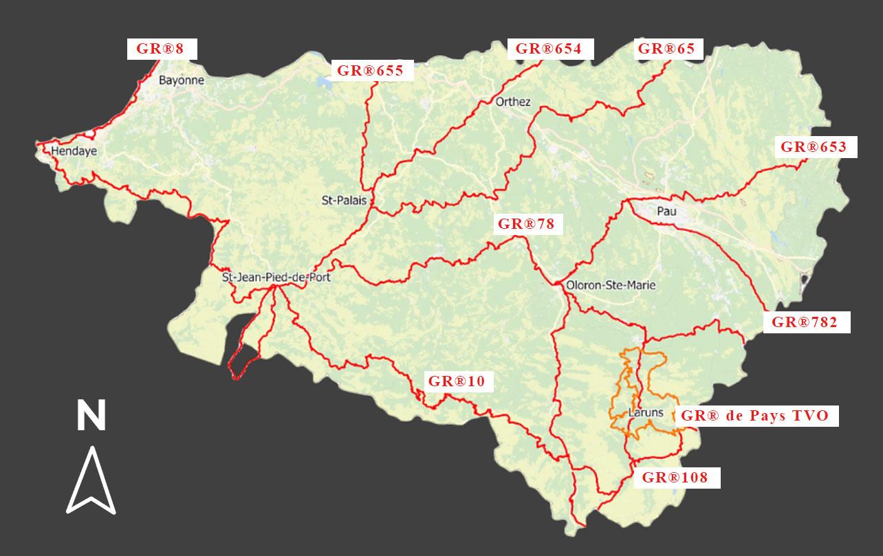 Les Gr Cdrp64 Comite Departemental De La Randonnee Pedestre Des Pyrenees Atlantiques