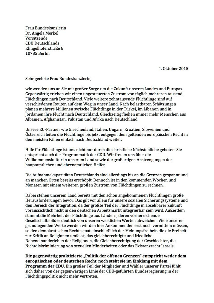 Offener Brief An Bundeskanzlerin Merkel Patrick Schreiber