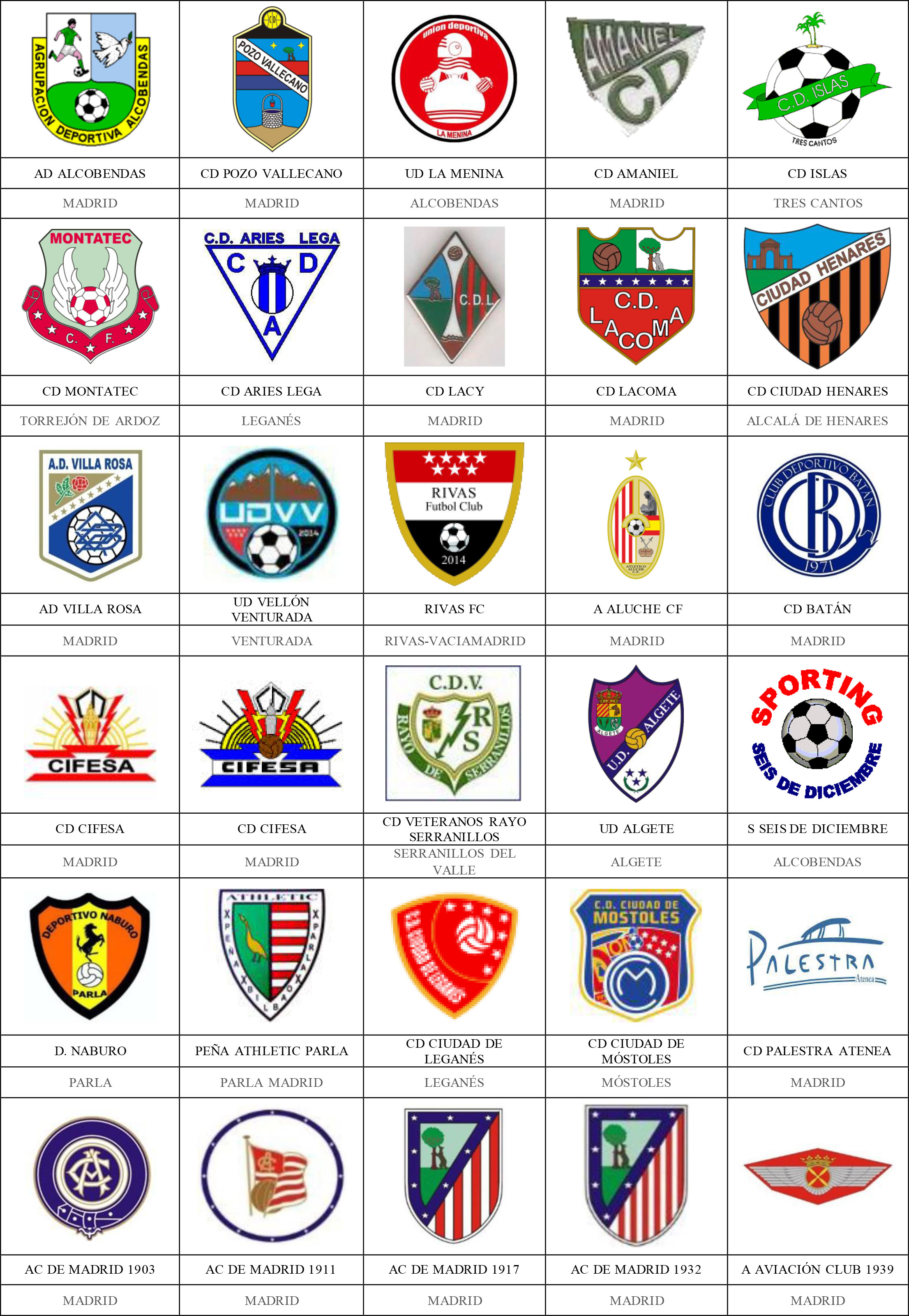 6e24d87c3e83b Madrid - Pins de escudos insiginas de equipos de fútbol.