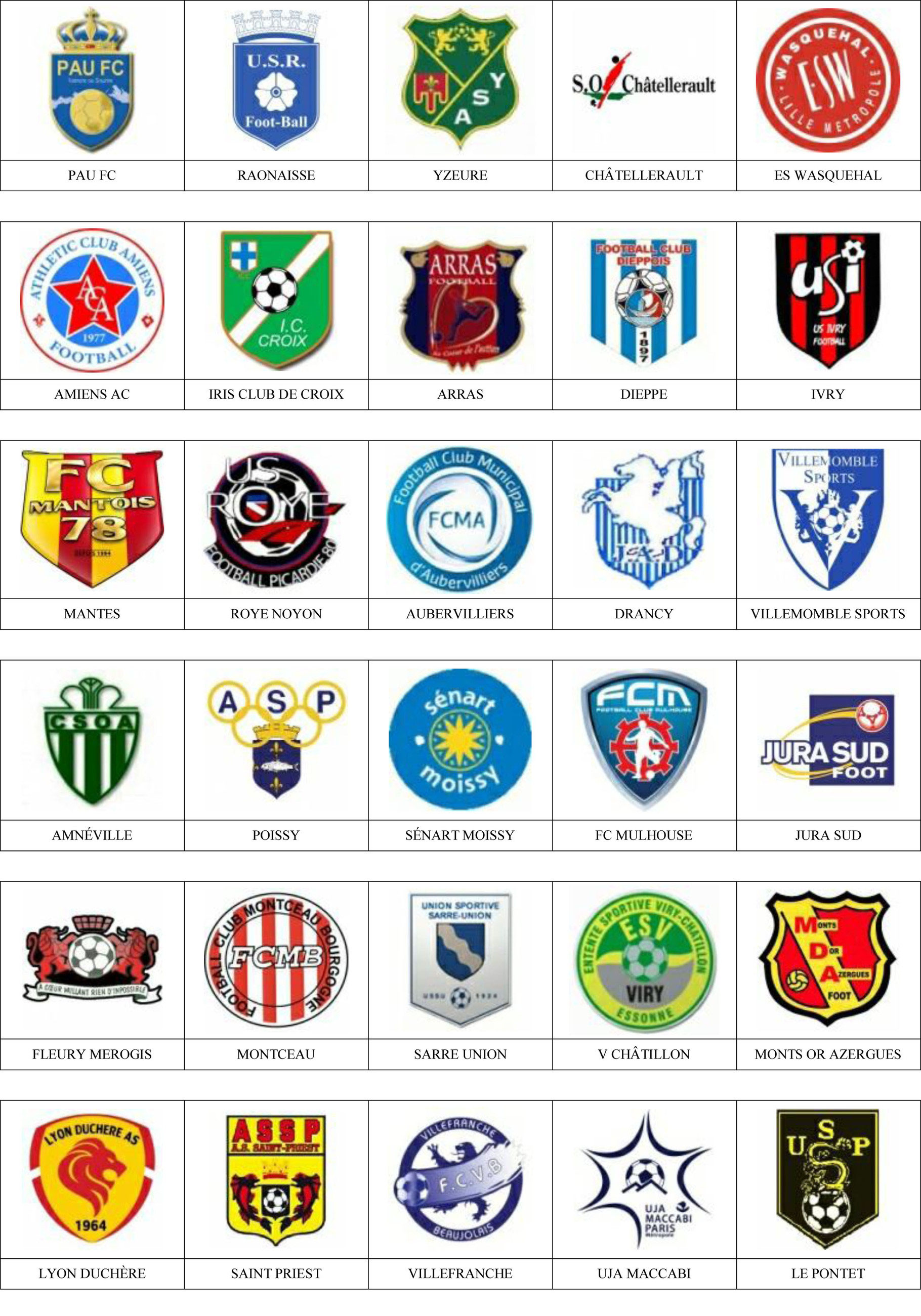 Francia Pins De Escudos Insiginas De Equipos De Futbol