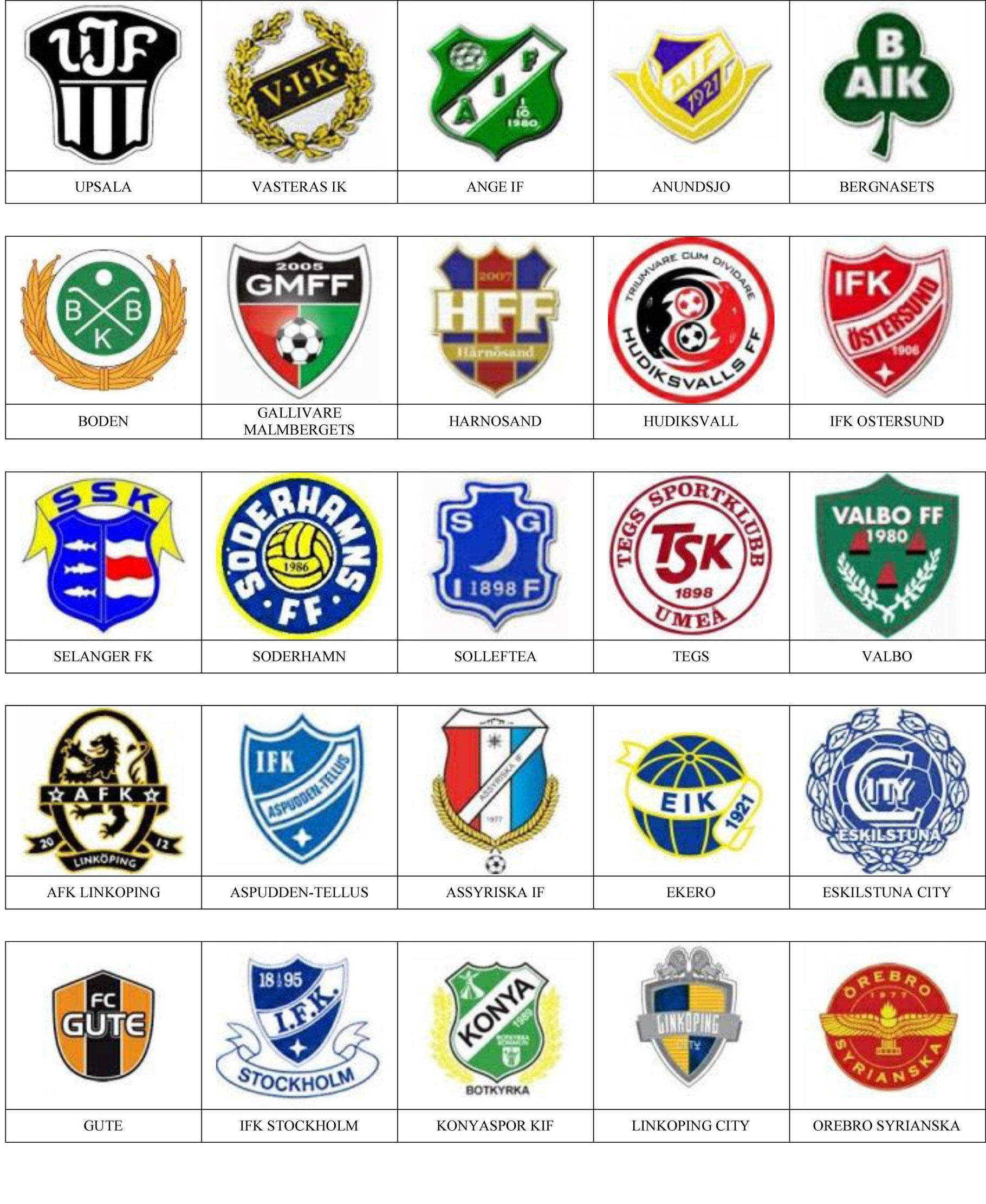 ea069f09fd1e4 Suecia - Pins de escudos insiginas de equipos de fútbol.