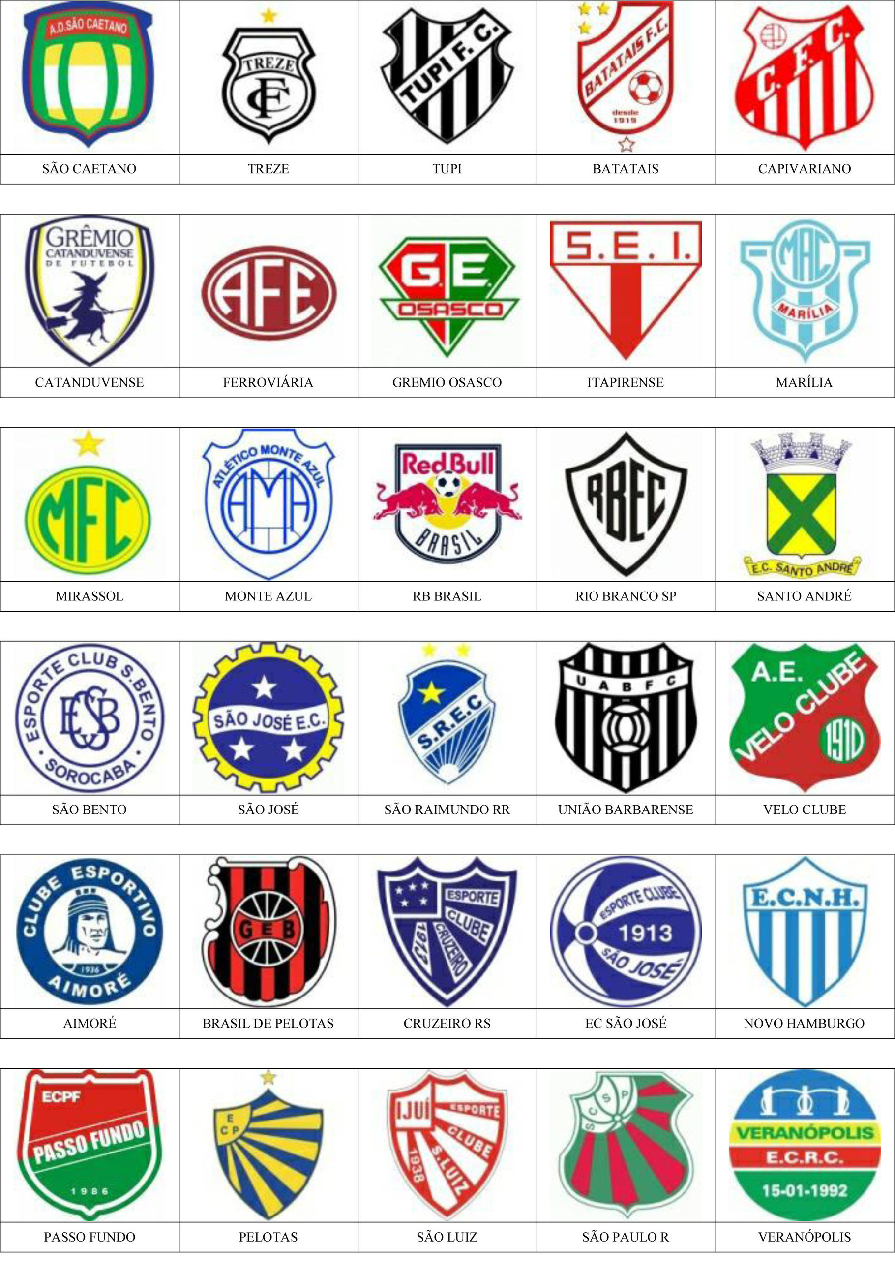Brasil Pins De Escudos Insiginas De Equipos De Fútbol