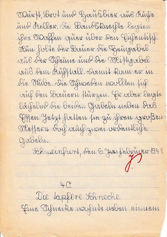 Ein Schweinfurter Schulheft der Jahre 1939/1940/41 ...