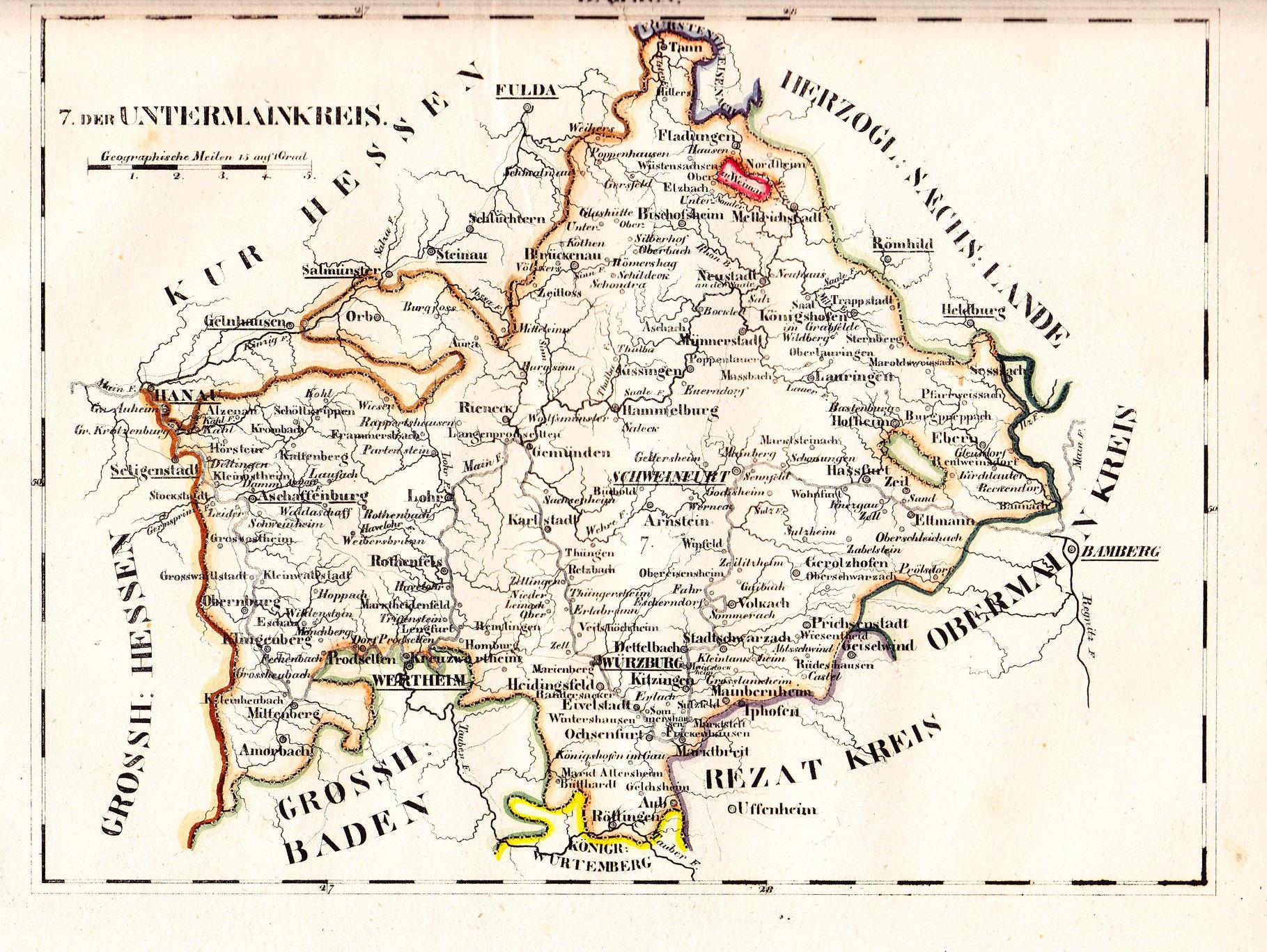 Unterfranken Karte.Schweinfurt Historische Landkarten Schweinfurtführer Ein Führer