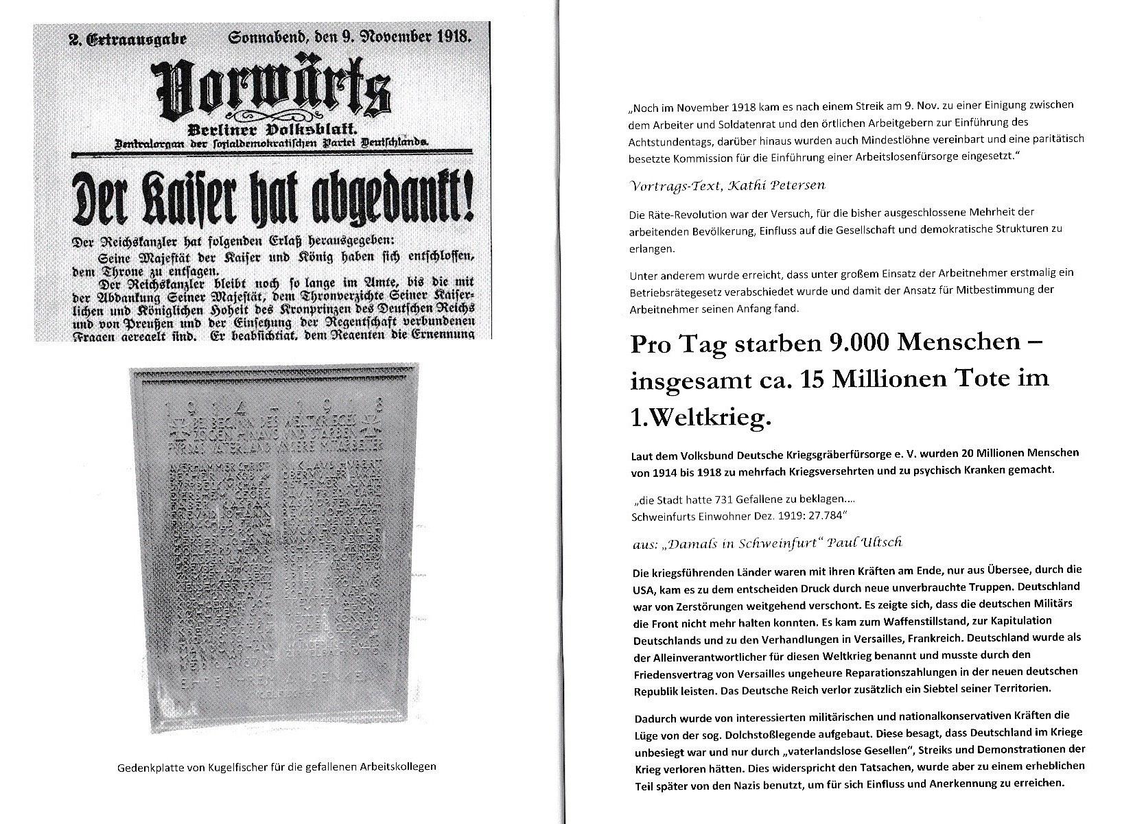 Der 1. Weltkrieg und seine Auswirkungen auf Schweinfurt ...
