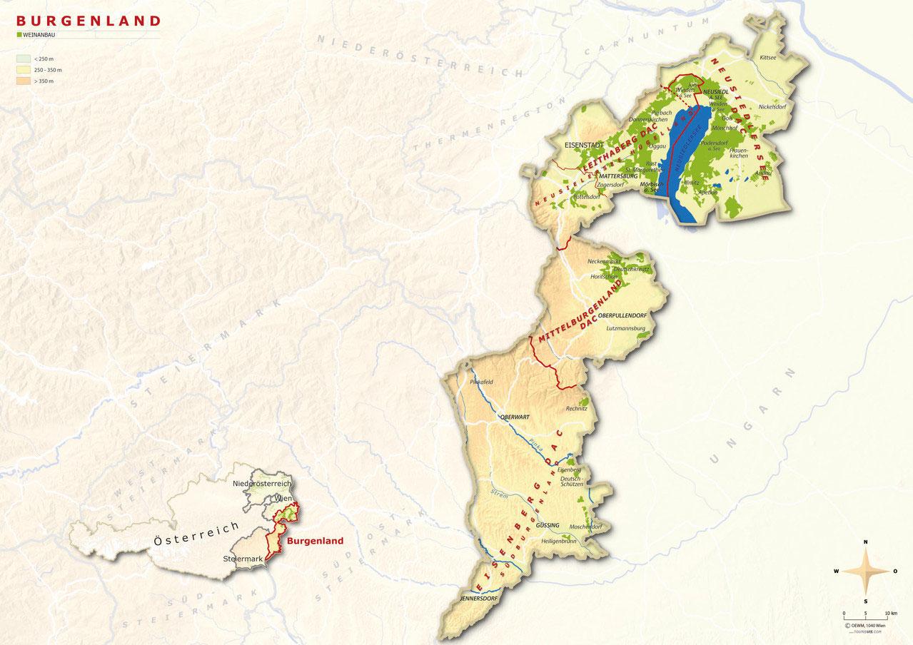 Piemont Weinbau Karte.Burgenland Inostrivinis Webseite