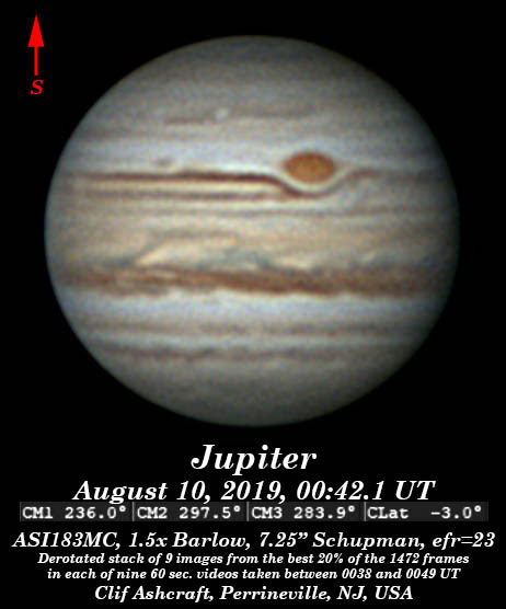 Jupiter, current images from June 2017 on    - wa2guf's