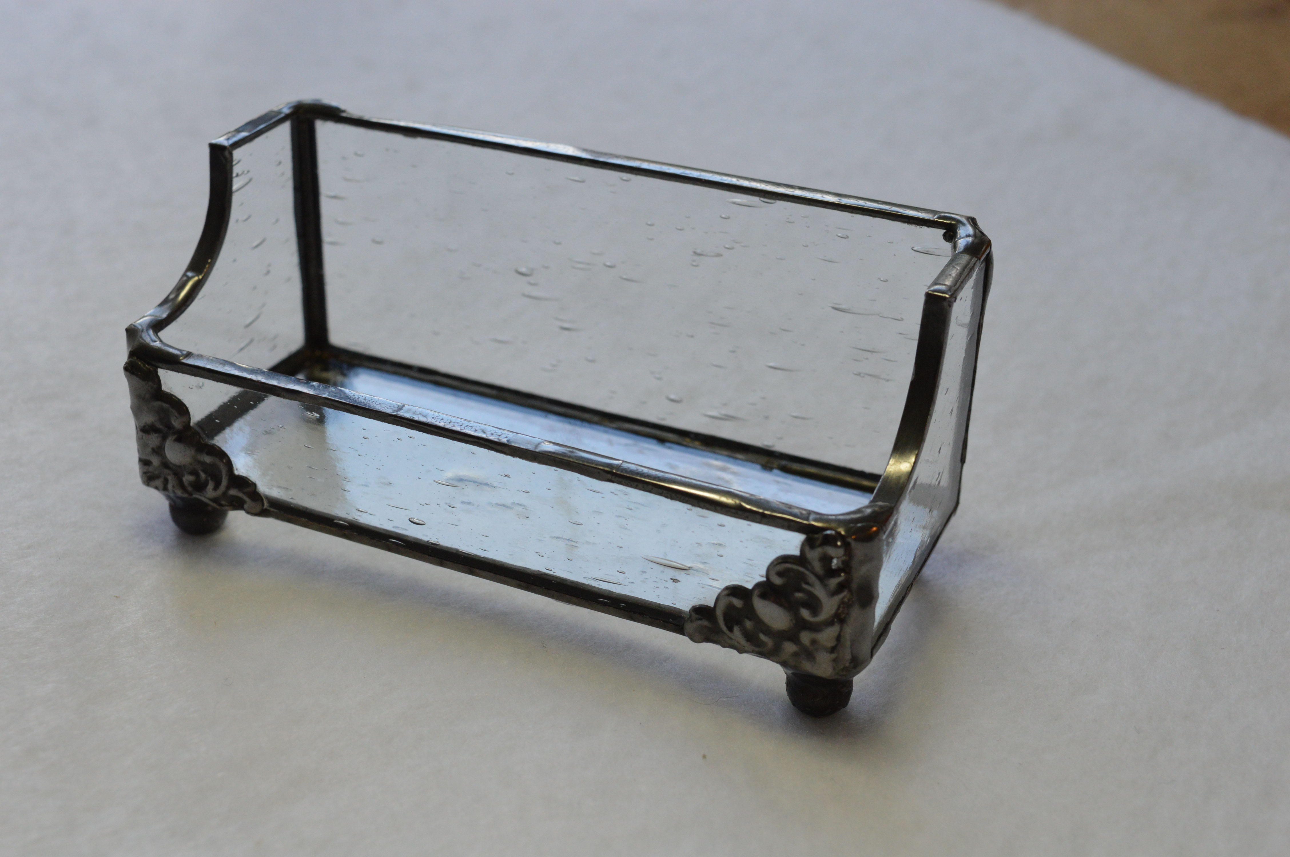 Business card holders picture gallery acadian glass art studio llc clear seedy stained glass business card holder colourmoves