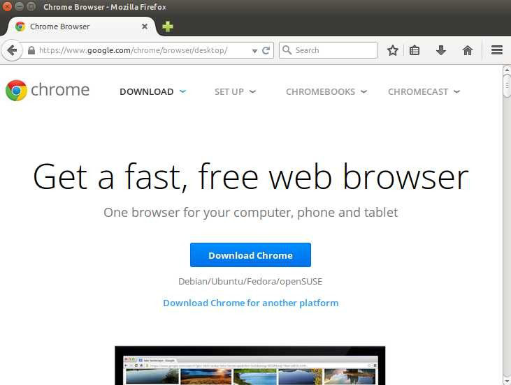 download chrome browser for ubuntu 14.04