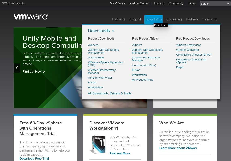 download vmware workstation 11 trial