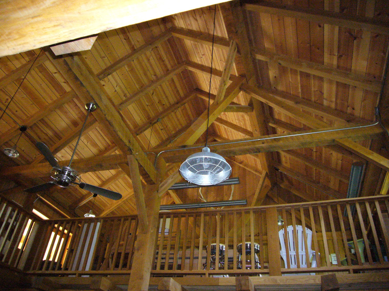 Traditional timber frames hand cut in Northern Michigan