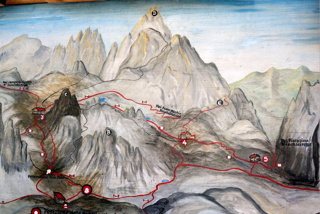 Klettersteig Paternkofel : Klettersteig innerkofler auf den paternkofel m