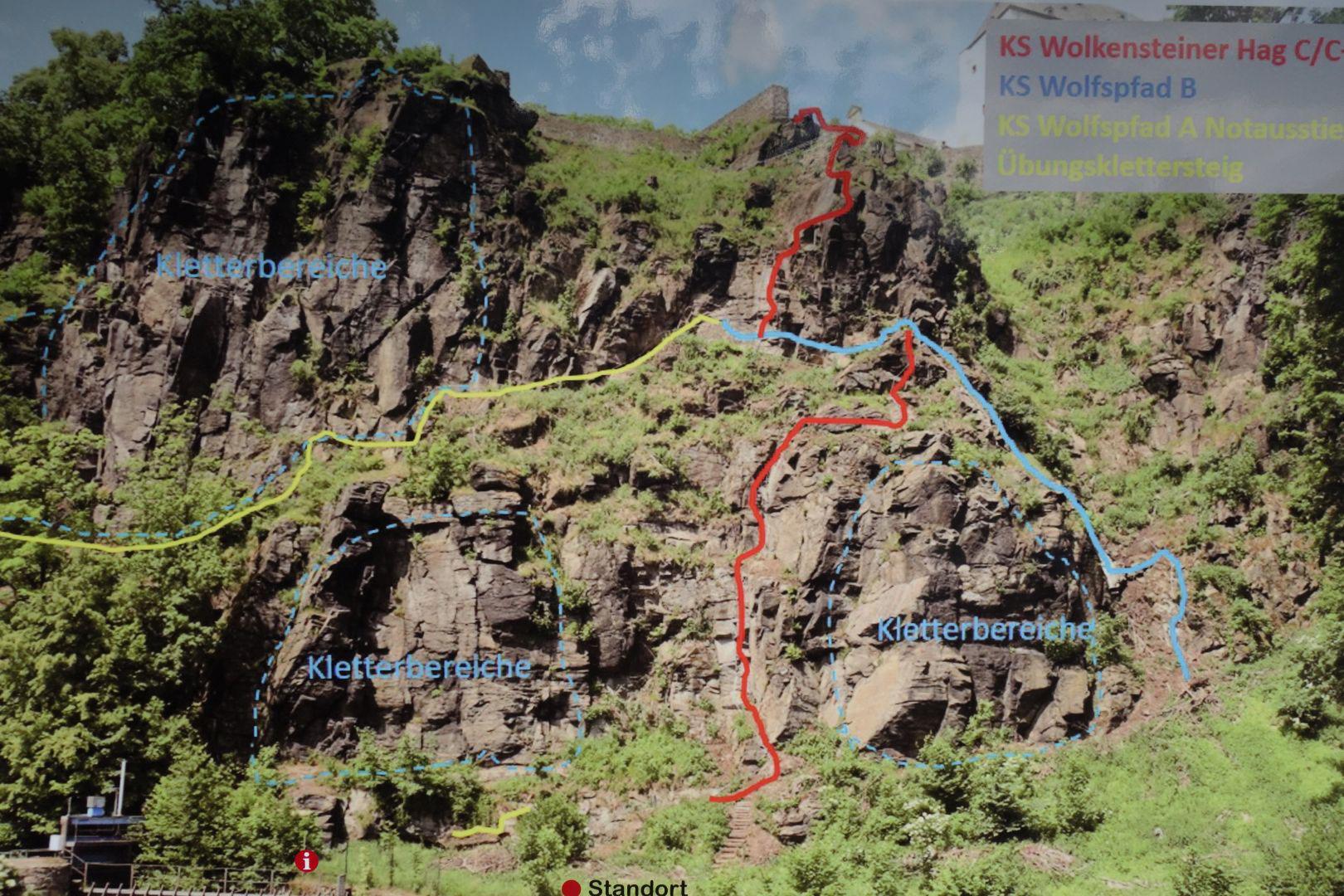 Klettersteig Walchensee : Klettersteig wolkensteiner hag und wolfspfad in wolkenstein