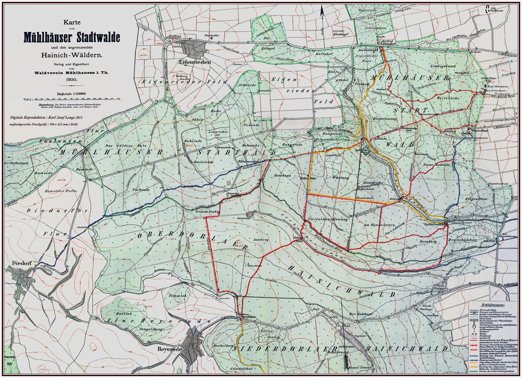Wanderkarten des Waldverein - waldverein-muehlhausen 1882 e. V.