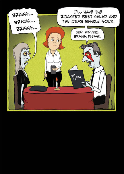 Zombie halloween card funny cartoons greeting cards and more m4hsunfo