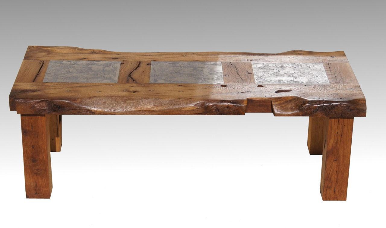 Massivholz Couchtische Galerie - Couchtisch Eiche massiv