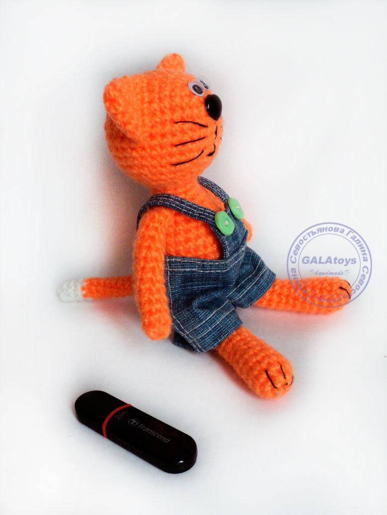 коты авторские вязаные игрушки и аксессуары севостьяновой галины