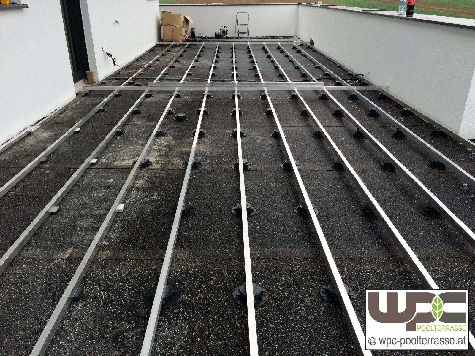 Hervorragend Bilder WPC Aluminium / Alu Unterkonstruktion für Terrassendielen TW54