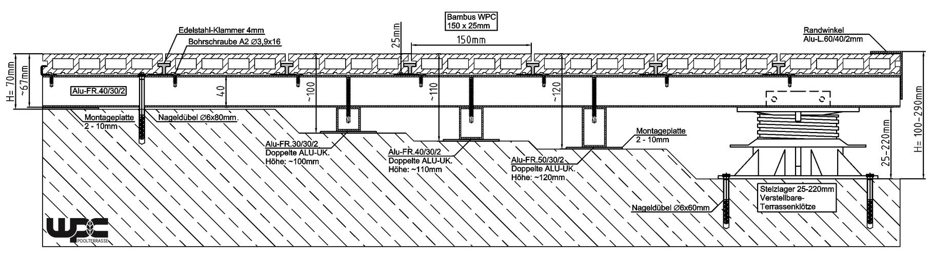 Hervorragend WPC / BPC Montageanleitung / Verlegeanleitung zu selbst verlegen OY51