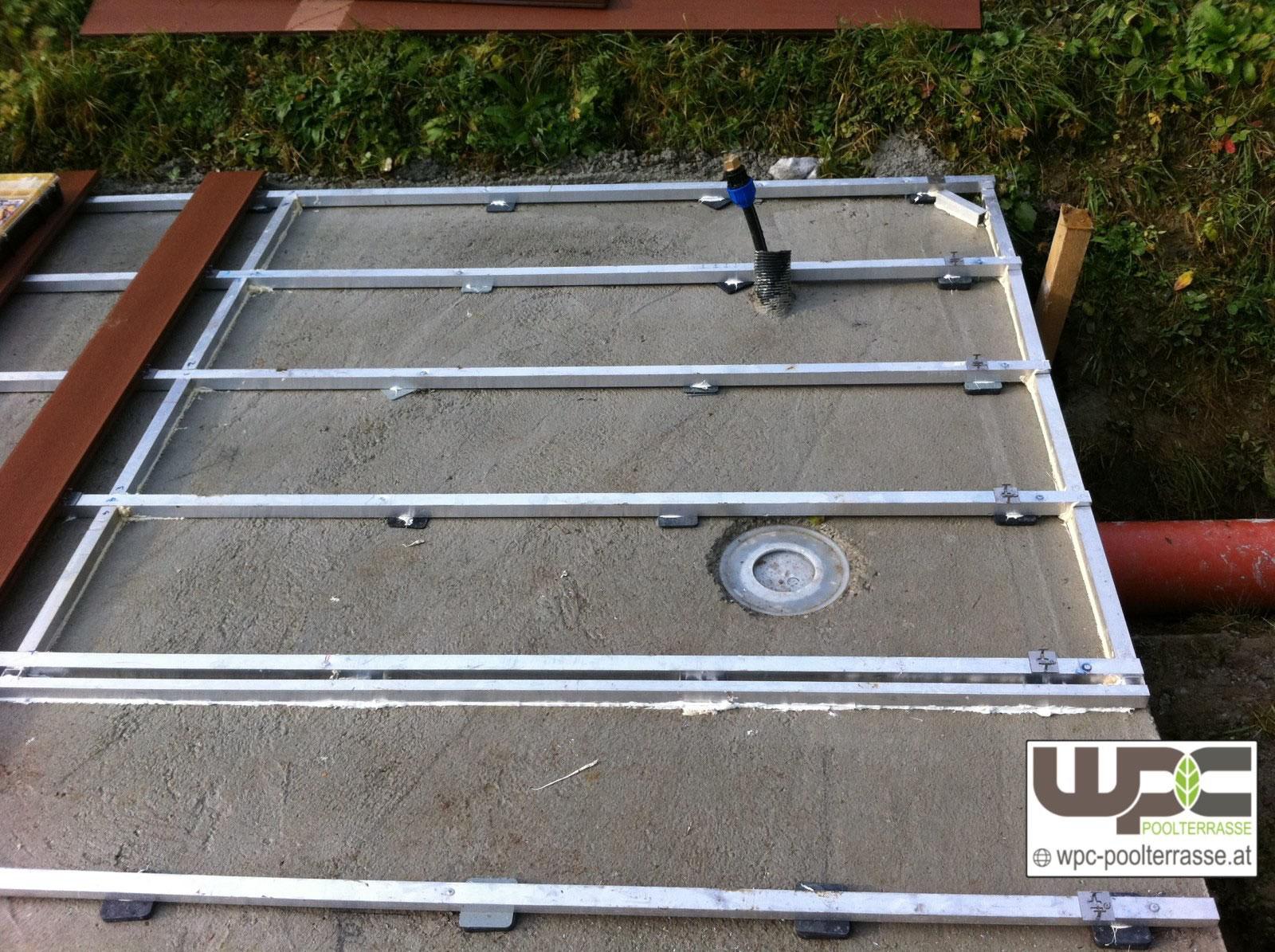 Gut bekannt Bilder WPC Aluminium / Alu Unterkonstruktion für Terrassendielen CW77