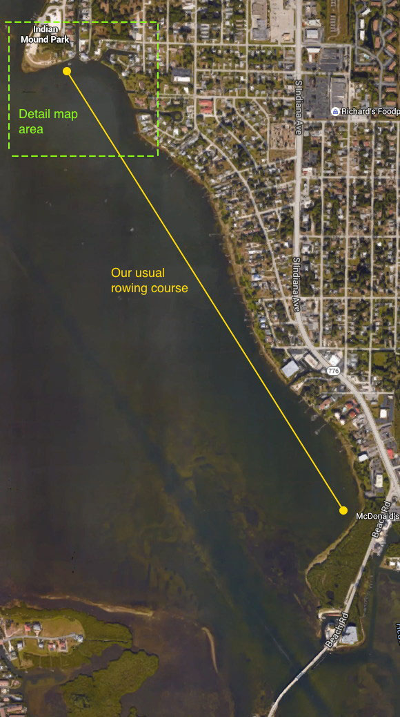 Usual morning row - Lemon Bay Crew Club in Englewood, FL