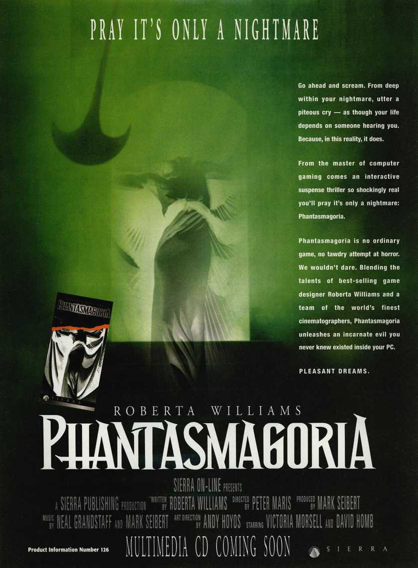 Phantasmagoria Magazine commercial - PC gamer (1995)