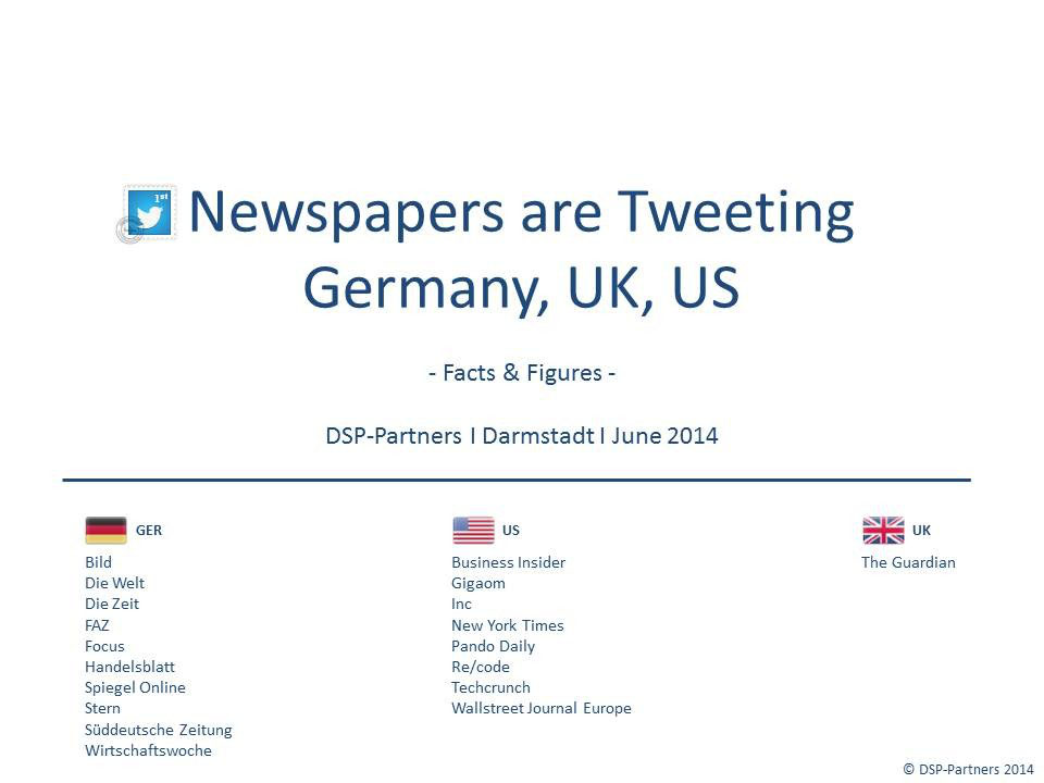 A DSP-Partners analyses: How Newspapers and Magazines are Tweeting