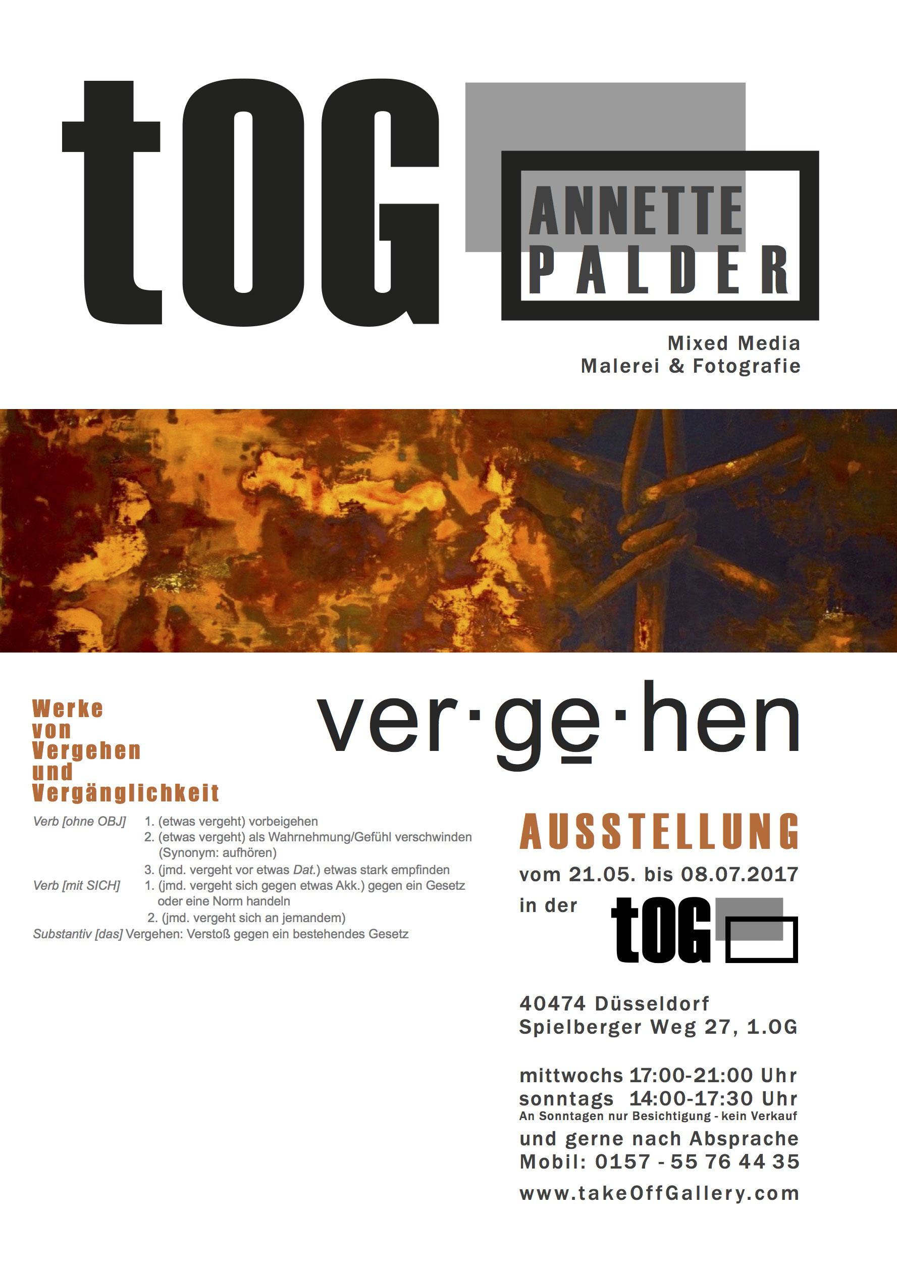 Einzelausstellung in der Düsseldorfer Galerie tOG - Annette Palder ...
