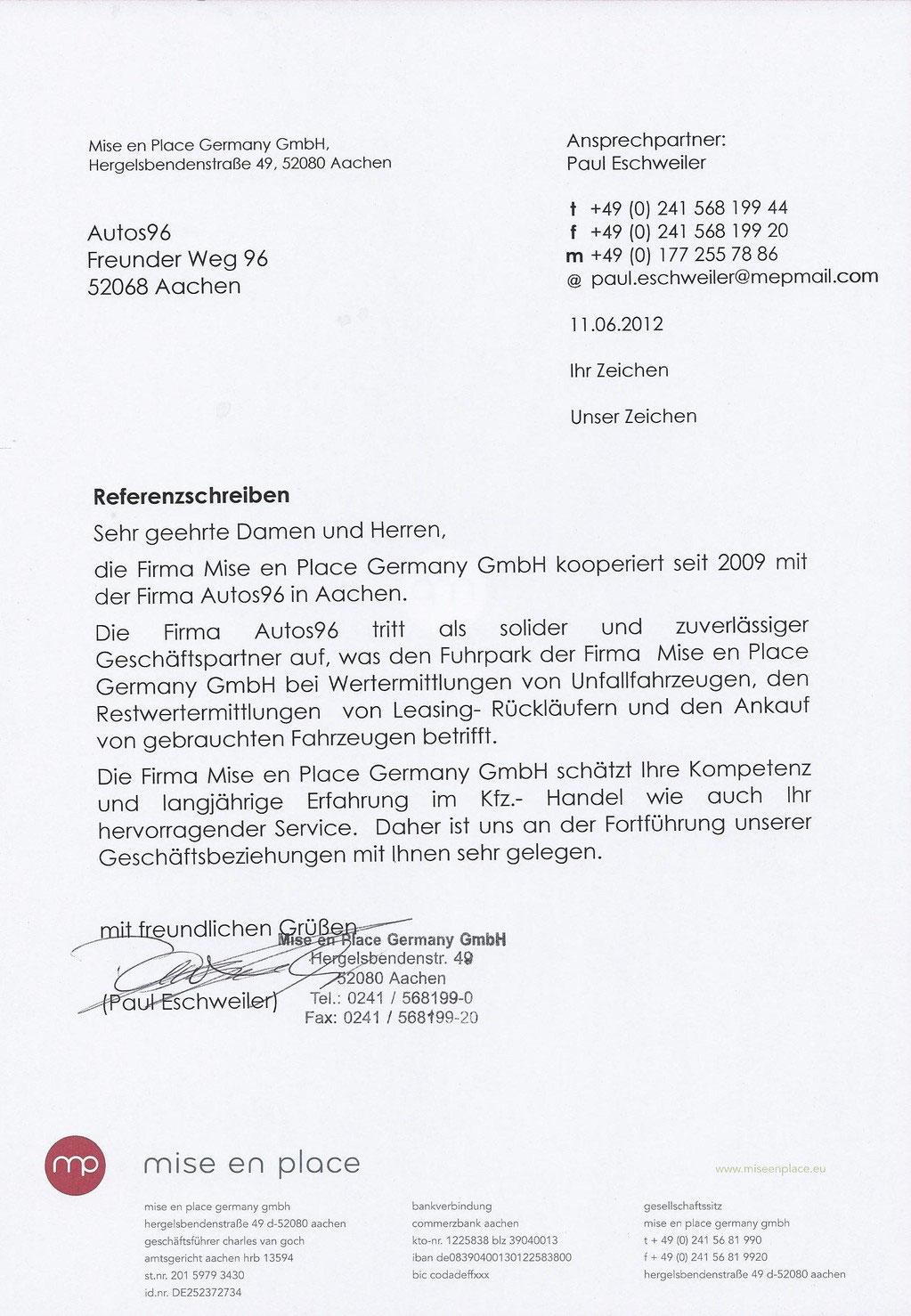 Referenzen - Autos96