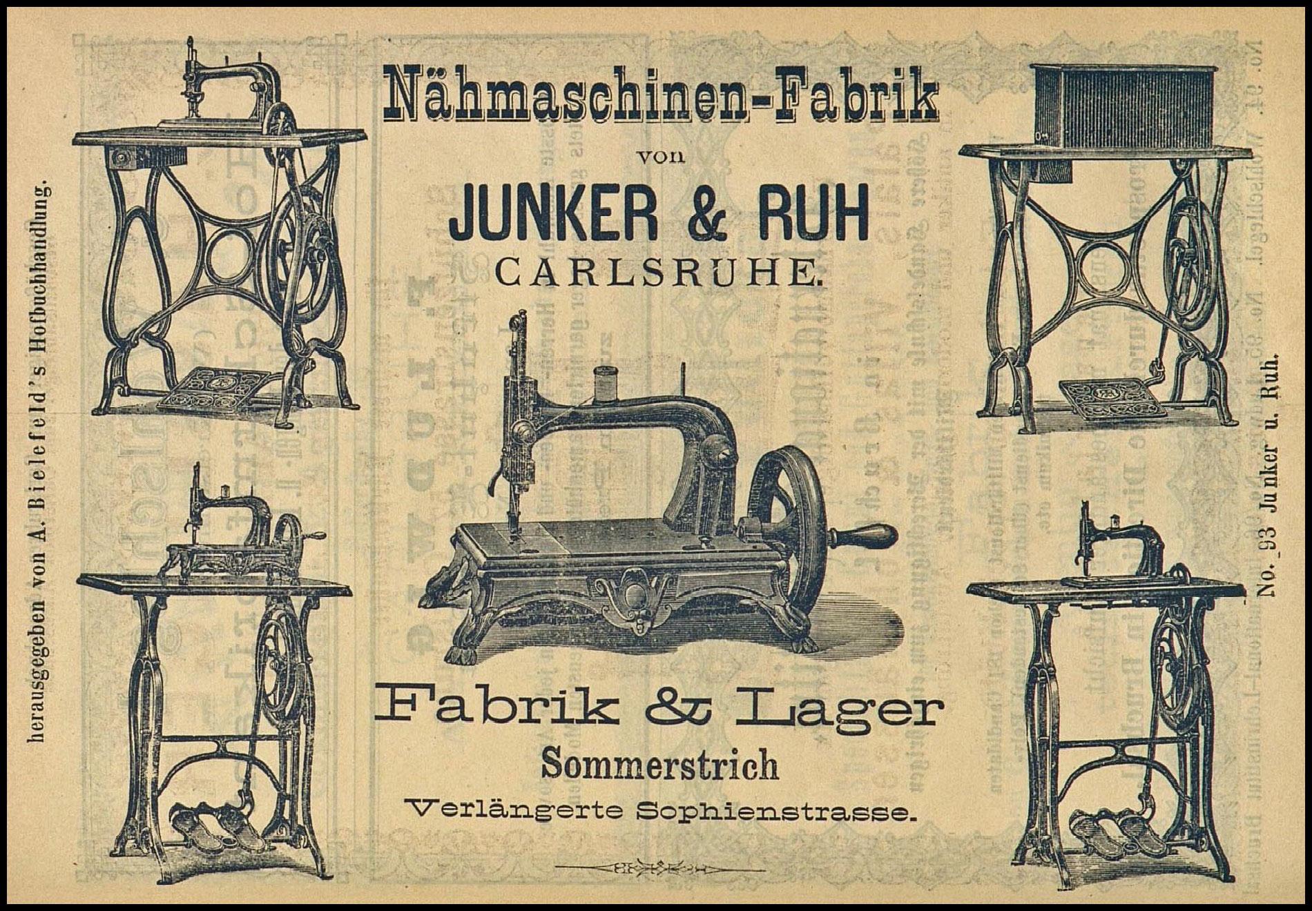 Junker & Ruh Sewing Machines - Fiddlebase