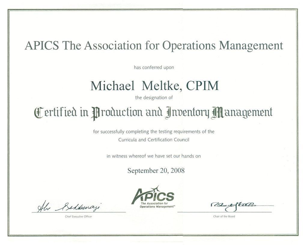 Apics cpim zertifizierung michael meltke apics cpim xflitez Gallery