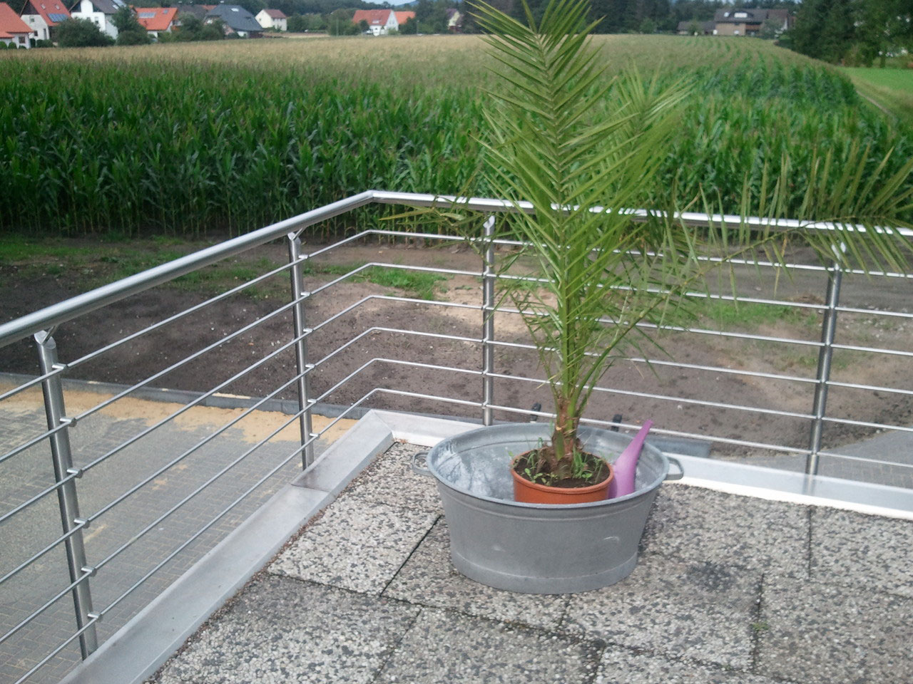 Terrasse Mit Geländer günstige terrassengeländer aus edelstahl zur selbstmontage - srh