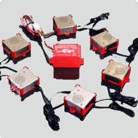 Marderschutz und Marderabwehr-Ger/ät M5500-SMD mit 6 Ultraschall und Hochspannungs Lautsprechern