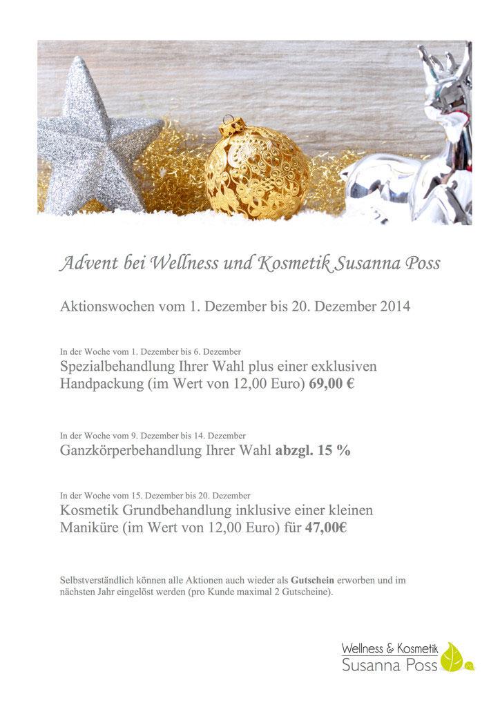 1680fd9cd711ac Advent bei Wellness und Kosmetik Susanna Poss   © InPixKommunikation -  Fotolia.com