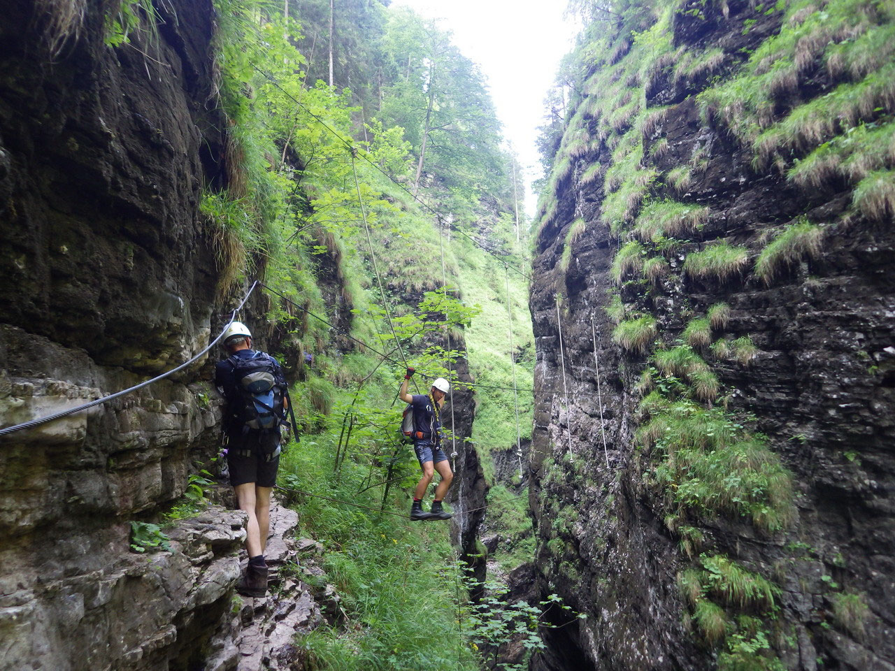 Postalm Klettersteig F Variante : Fotogalerie tourfotos fotos zur klettersteig tour