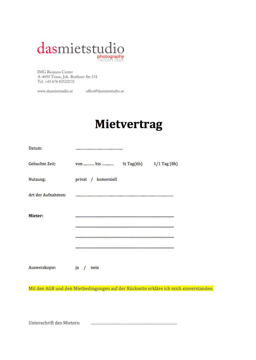 Mietvertrag - dasmietstudios Webseite!
