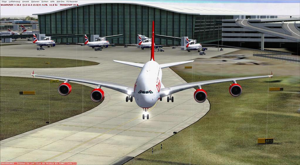 Airbus A380 Frankfurt nach Finkenwerder - ronaldi50 - FSX A380