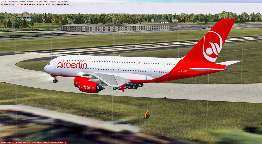 Airbus A380 Frankfurt nach Finkenwerder - ronaldi50 - FSX