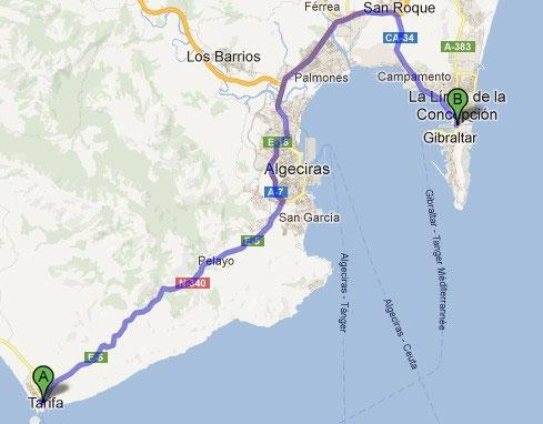 Karte Gibraltar Umgebung.Tarifa Gibraltar Annette Traks