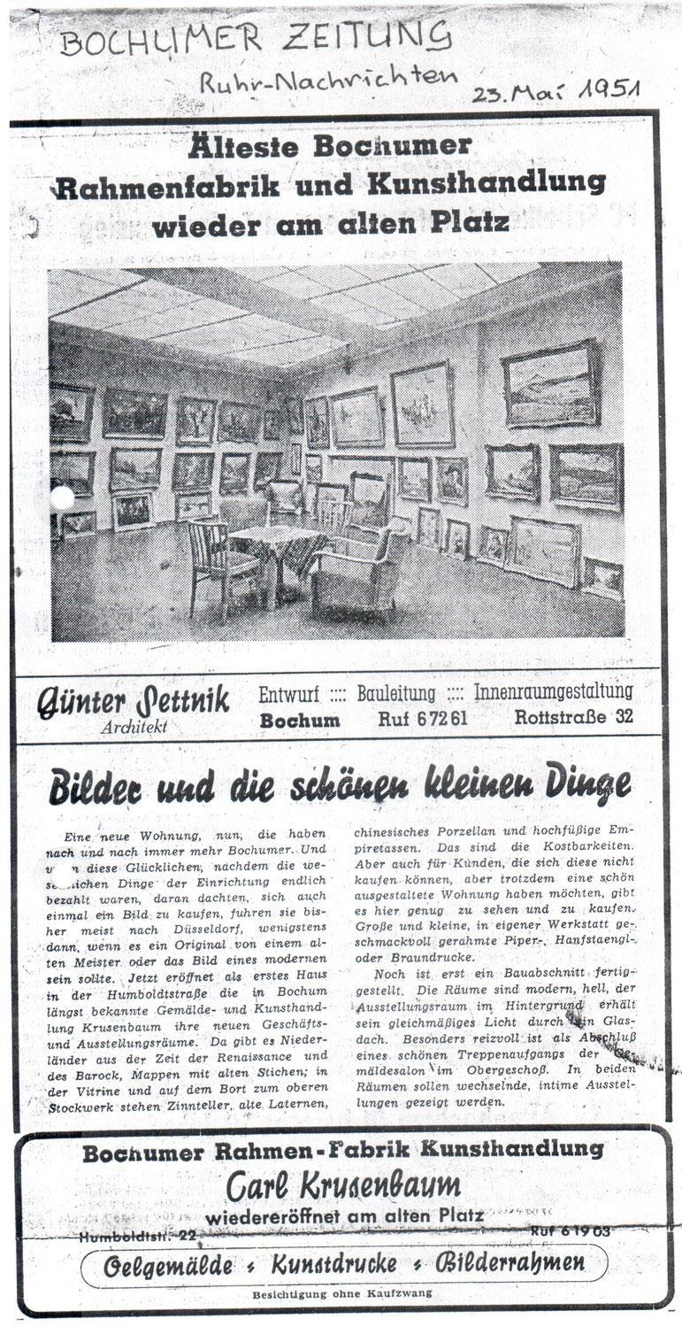 Geschichte: Entwicklung der Firma - Kunsthandlung Krusenbaum