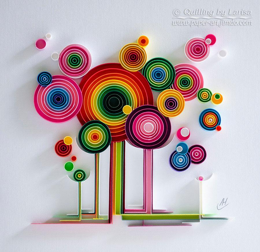 Paper quilling wall art designs interior design for Art design ideas for paper